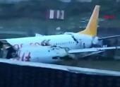 Video: Máy bay chở 177 hành khách gãy đôi khi hạ cánh