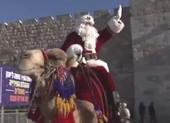 Lạ với ông già Noel cưỡi lạc đà đi phát quà Giáng sinh