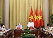 Chủ tịch nước chủ trì họp đánh giá việc giải quyết hồ sơ án tử hình