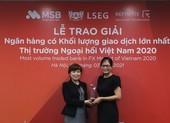 MSB: khối lượng giao dịch ngoại hối lớn nhất Việt Nam