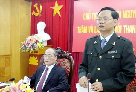 Tổng Thanh tra Chính phủ Huỳnh Phong Tranh báo cáo Chủ tịch Quốc hội những hoạt động của ngành