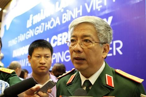 Thứ trưởng quốc phòng Việt Nam,Thượng tướngNguyến Chí Vịnh. (Ảnh Lao động)