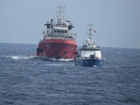 Trung Quốc liên tục có các hành động gây hấn trên Biển Đông. Ảnh: TTXVN phát
