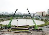 Metro Nhổn - ga Hà Nội có đoàn tàu đầu tiên lên ray