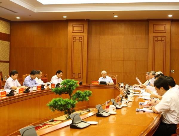 Tổng Bí thư Nguyễn Phú Trọng chủ trì cuộc họp của Thường trực Ban Chỉ đạo Trung ương về phòng, chống tham nhũng