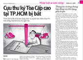 Thông tin mới vụ cựu thư ký toà Cấp cao tại TP.HCM bị bắt