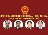 14 tướng lĩnh quân đội, công an được giới thiệu ứng cử ĐBQH