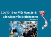 COVID-19 tại Việt Nam 26-5: Bắc Giang vẫn là điểm nóng