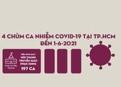 Sơ đồ 4 chùm ca nhiễm COVID-19 tại TP.HCM đến 1-6-2021