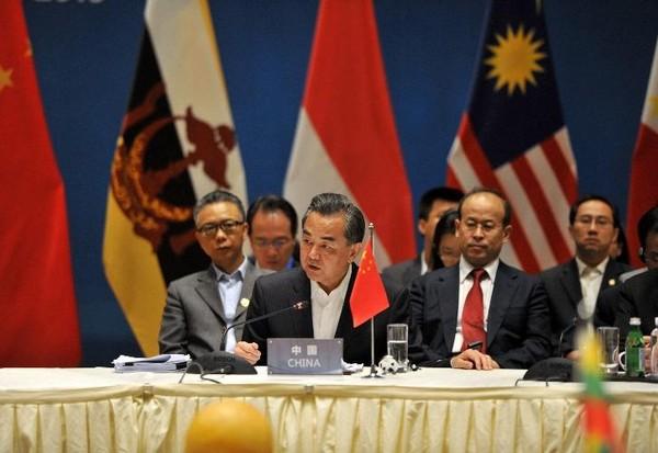Bộ trưởng Bộ ngoại giao Trung Quốc Vương Nghị tham gia Hội nghị ngoại trưởng ASEAN - Trung Quốc tại Côn Minh.