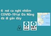 Hành trình 6 nơi ca nghi nhiễm COVID-19 ở Đà Nẵng đã đi