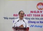 Ông Nguyễn Thiện Nhân dự ngày hội đại đoàn kết dân tộc