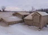 Ngôi làng phủ kín băng, dù tuyết không rơi