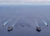 Hai tàu sân bay Mỹ tập trận 'từng giờ' ở Biển Đông