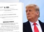 Hạ viện Mỹ thông qua nghị quyết luận tội ông Trump