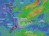 Xuất hiện vùng áp thấp giữa Biển Đông