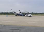 Trực thăng vào Hướng Hóa đưa 2 người bị thương đi cấp cứu
