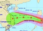 Bão Goni hướng vào các tỉnh từ Đà Nẵng đến Phú Yên