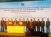 Công bố xuất khẩu lô sữa chính ngạch đầu tiên sang Trung Quốc