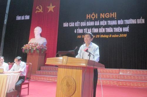 GS-TS Mai Trọng Nhuận trình bày, báo cáo kết quả