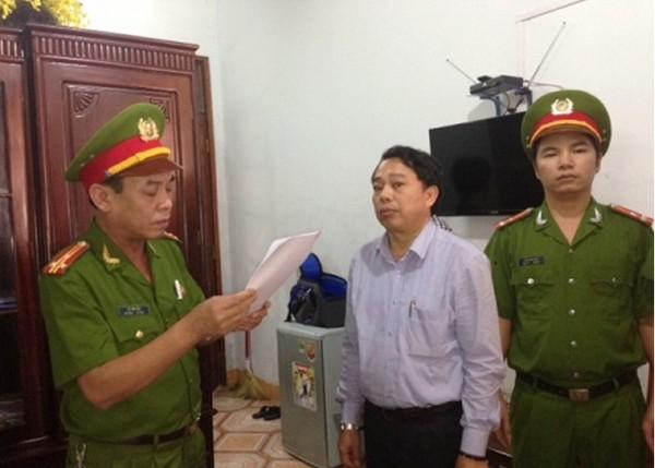 Nguyễn Văn Bổng khi bị đọc lệnh khởi tố bị can.