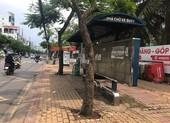 Trạm chờ xe buýt không ai dám ngồi đã được dọn sạch