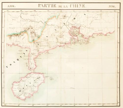 mang tên Partie de la Chine trong khoảng vĩ độ 18-21 và kinh độ 106-114 vẽ khu vực Quảng Đông và đảo Hải Nam, cho biết biên giới cực nam của Trung Quốc chưa chạm đến vĩ độ 18.