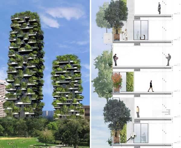 6.) Stefano Boeri's Urban Vertical Forest
