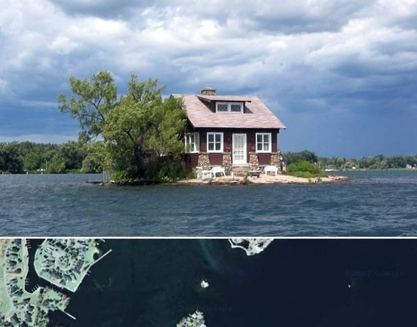 8.) Isolated homes in the stretch of 1,000 Islands (most with their own generators).