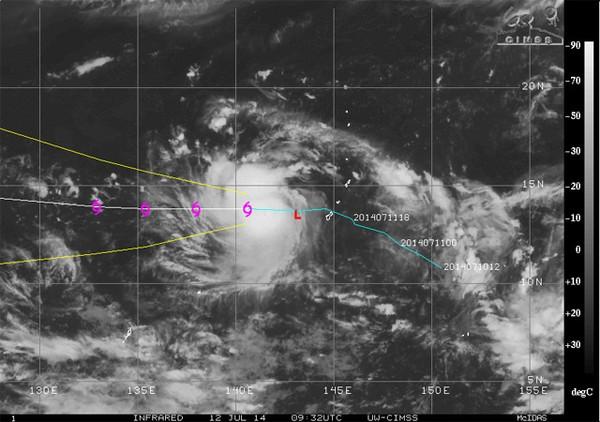 Hình ảnh cơn bão chụp từ vệ tinh