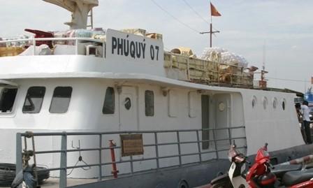 Tàu Phú Quý 07 bị đình chỉ do mất an toàn kỹ thuật