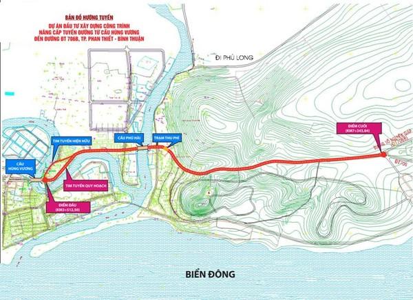 Bản đồ tuyến đường chuẩn bị nâng cấp mở rộng