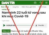 Đề nghị xử lý vi phạm báo điện tử Dân trí vì thông tin sai sự thật