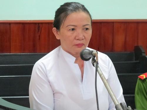 Bị cáo Nguyễn Thị Xuân Đào tại phiên tòa