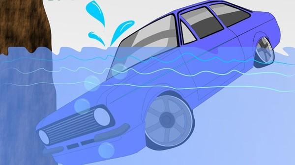 Cách thoát khỏi xe bị chìm xuống nước
