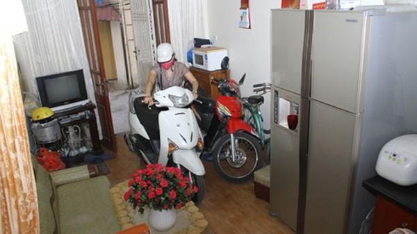 Cách để xe máy trong nhà an toàn