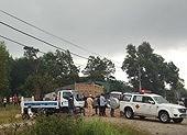 Tải ben kéo lê xe máy trên đường khiến 2 người tử vong