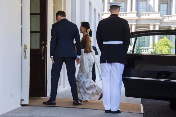 Bà Suu Kyi được chào mừng đến Nhà trắng ngày 14-9.