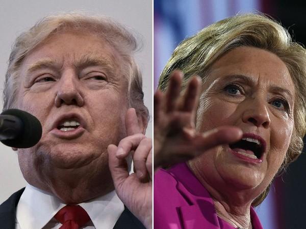 Bà Clinton đang dẫn trước ông Trump.