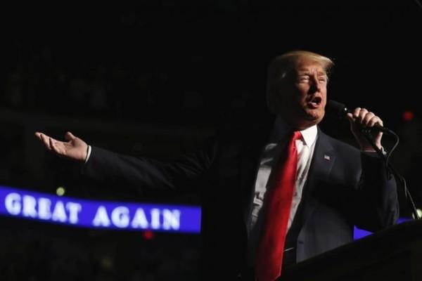 Tổng thống đắc cử Donald Trump tại Pennsylvania (Mỹ) ngày 15-12-2016. Ảnh: REUTERS