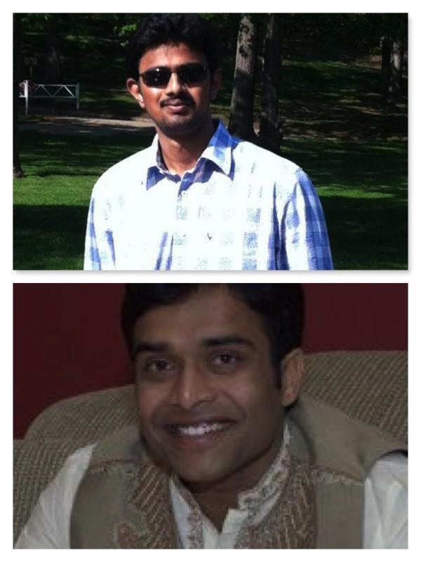 Hai nạn nhân Srinivas Kuchibhotla (trên, đã chết) và Alok Madasani (dưới, bị thương). Ảnh: AP