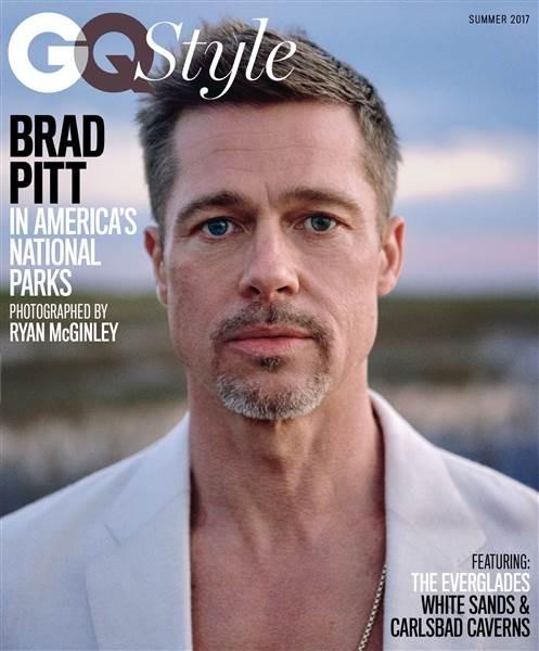 Nam tài tử Brad Pitt trên ấn phẩm mùa hè 2017 của tạp chí GQ Style. Ảnh: TODAY