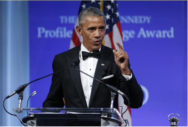Cựu Tổng thống Obama kêu gọi Quốc hội dũng cảm bảo vệ Obamacare. Ảnh: AP