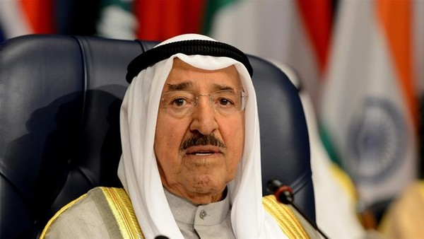 Quốc vương Kuwait Sabah Al Ahmad Al Jaber Al Sabah đang làm trung gian hòa giải giữa Qatar và các nước láng giềng Ả Rập vùng Vịnh. Ảnh: EPA