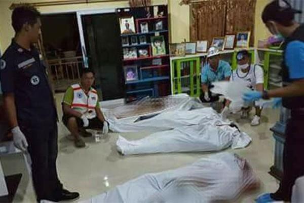 Các nạn nhân vụ xả súng hàng loạt khuya 10-7 ở tỉnh Krabi (Thái Lan). Ảnh: BANGKOK POST