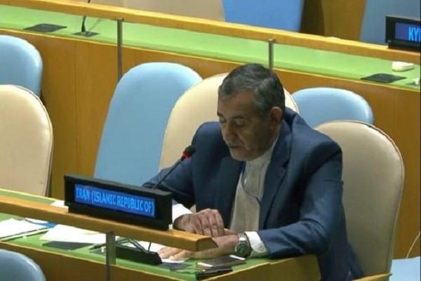 Cố vấn thứ nhất và đại diện Iran tại LHQ Hossein Maleki. Ảnh: MERH NEWS