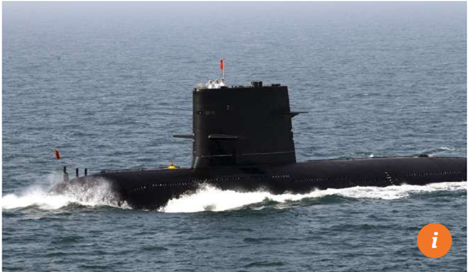 Tàu ngầm Trung Quốc. Ảnh: SCMP