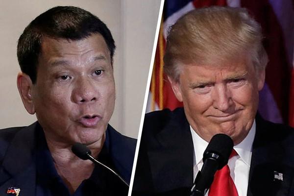 Cuộc gặp giữa Tổng thống Trump (phải) và Tổng thống Duterte bên lề hội nghị APEC rất được chờ đợi. Ảnh: ABS-CBN NEWS