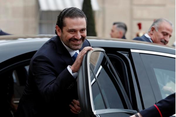 Thủ tướng Lebanon Saad al-Hariri sau cuộc gặp với Tổng thống Pháp Emmanuel Macron tại Điện Elysee ở Paris (Pháp) ngày 18-11. Ảnh: REUTERS