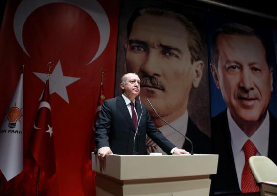 Ông Erdogan phát biểu trước đảng cầm quyền AK tại Ankara ngày 26-1. Ảnh: REUTERS